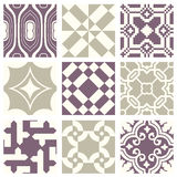 Classic vintage elegant pastel violet seamless abstract pattern 01 Stock Image