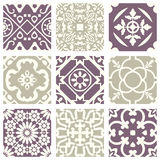 Classic vintage elegant pastel violet seamless abstract pattern 02 Royalty Free Stock Image