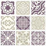 Classic vintage elegant pastel violet seamless abstract pattern 04 Royalty Free Stock Photo
