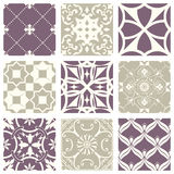 Classic vintage elegant pastel violet seamless abstract pattern 13. Antique retro abstract pattern set collection can be used for wallpaper, web page background stock illustration