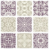 Classic vintage elegant pastel violet seamless abstract pattern 12. Antique retro abstract pattern set collection can be used for wallpaper, web page background Stock Photos