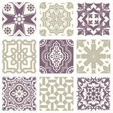 Classic vintage elegant pastel violet seamless abstract pattern 14 Royalty Free Stock Images