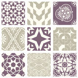 Classic vintage elegant pastel violet seamless abstract pattern 15. Antique retro abstract pattern set collection can be used for wallpaper, web page background vector illustration