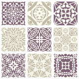 Classic vintage elegant pastel violet seamless abstract pattern 11. Antique retro abstract pattern set collection can be used for wallpaper, web page background vector illustration