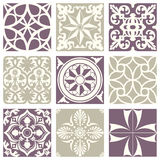 Classic vintage elegant pastel violet seamless abstract pattern 18 Stock Images