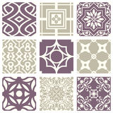 Classic vintage elegant pastel violet seamless abstract pattern 22 Royalty Free Stock Photo
