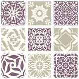 Classic vintage elegant pastel violet seamless abstract pattern 26. Antique retro abstract pattern set collection can be used for wallpaper, web page background stock illustration