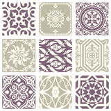 Classic vintage elegant pastel violet seamless abstract pattern 25. Antique retro abstract pattern set collection can be used for wallpaper, web page background Royalty Free Stock Image