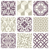 Classic vintage elegant pastel violet seamless abstract pattern 24. Antique retro abstract pattern set collection can be used for wallpaper, web page background Stock Images