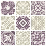 Classic vintage elegant pastel violet seamless abstract pattern 29 Stock Images