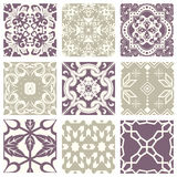 Classic vintage elegant pastel violet seamless abstract pattern 31. Antique retro abstract pattern set collection can be used for wallpaper, web page background Royalty Free Stock Photo