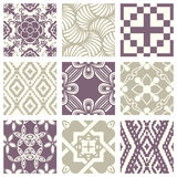 Classic vintage elegant pastel violet seamless abstract pattern 32. Antique retro abstract pattern set collection can be used for wallpaper, web page background royalty free illustration