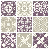 Classic vintage elegant pastel violet seamless abstract pattern 34. Antique retro abstract pattern set collection can be used for wallpaper, web page background vector illustration