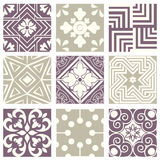 Classic vintage elegant pastel violet seamless abstract pattern 37 Royalty Free Stock Photo