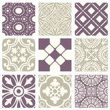 Classic vintage elegant pastel violet seamless abstract pattern 38 Royalty Free Stock Photos