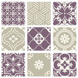 Classic vintage elegant pastel violet seamless abstract pattern 44. Antique retro abstract pattern set collection can be used for wallpaper, web page background Stock Photo