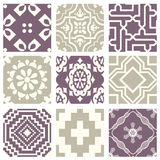 Classic vintage elegant pastel violet seamless abstract pattern 36. Antique retro abstract pattern set collection can be used for wallpaper, web page background Stock Photography