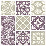 Classic vintage elegant pastel violet seamless abstract pattern 44. Antique retro abstract pattern set collection can be used for wallpaper, web page background Royalty Free Stock Photo