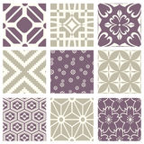 Classic vintage elegant pastel violet seamless abstract pattern 42. Antique retro abstract pattern set collection can be used for wallpaper, web page background Stock Image