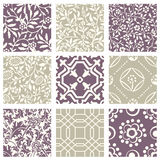 Classic vintage elegant pastel violet seamless abstract pattern 46. Antique retro abstract pattern set collection can be used for wallpaper, web page background Royalty Free Stock Photos
