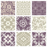 Classic vintage elegant pastel violet seamless abstract pattern 47. Antique retro abstract pattern set collection can be used for wallpaper, web page background Royalty Free Stock Photography