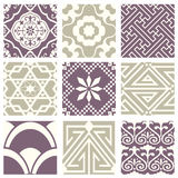 Classic vintage elegant pastel violet seamless abstract pattern 48. Antique retro abstract pattern set collection can be used for wallpaper, web page background vector illustration