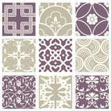 Classic vintage elegant pastel violet seamless abstract pattern 52. Antique retro abstract pattern set collection can be used for wallpaper, web page background Royalty Free Stock Photography