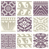 Classic vintage elegant pastel violet seamless abstract pattern 54. Antique retro abstract pattern set collection can be used for wallpaper, web page background Royalty Free Stock Photography