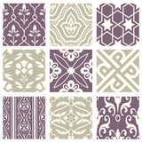 Classic vintage elegant pastel violet seamless abstract pattern 56. Antique retro abstract pattern set collection can be used for wallpaper, web page background royalty free illustration