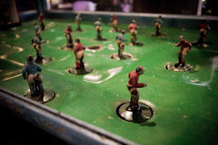 Classic vintage football table. A classic vintage football table games Royalty Free Stock Image