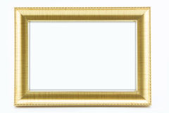 Classic vintage  gilded frame  on white background. Stock Image