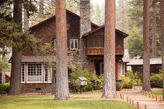 Classic Vintage Log Cabin Stock Photography