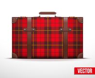 Classic vintage luggage suitcase for travel Stock Photos