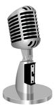 Classic vintage microphone  Royalty Free Stock Photo