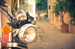 Classic vintage motorcycle Royalty Free Stock Photo