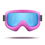 Classic vintage old school pink snowboard ski Royalty Free Stock Images