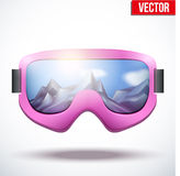 Classic vintage old school pink snowboarding Stock Photos