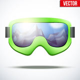 Classic vintage old school snowboarding goggles Stock Image