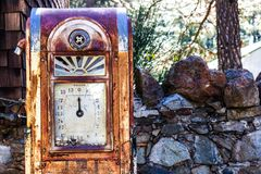 Classic Vintage Old Time Gas Pump Face Stock Photography