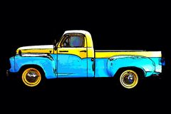 Classic vintage pickup truck Stock Photography
