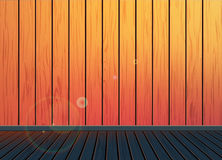 Classic Vintage retro background with wooden pattern texture floor Stock Images