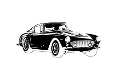 Classic vintage retro car ,  design Royalty Free Stock Photo