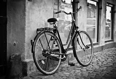 Classic vintage retro city bicycle Royalty Free Stock Image