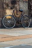 Classic vintage retro city bicycle in Copenhagen, Denmark Royalty Free Stock Photography