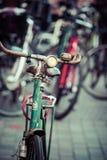 Classic vintage retro city bicycle in Copenhagen, Denmark Stock Photography