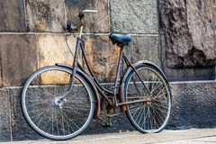 Classic vintage retro city bicycle in Copenhagen, Denmark Royalty Free Stock Image