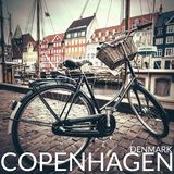 Classic vintage retro city bicycle in Copenhagen, Denmark.  Royalty Free Stock Photos