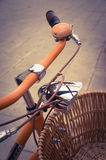 Classic vintage retro city bicycle Royalty Free Stock Photo