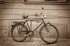 Classic vintage retro city bicycle Stock Image