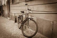 Classic vintage retro city bicycle Stock Photography